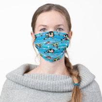 Powerpuff Girls Star Pattern Adult Cloth Face Mask