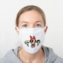Powerpuff Girls Super Fierce White Cotton Face Mask