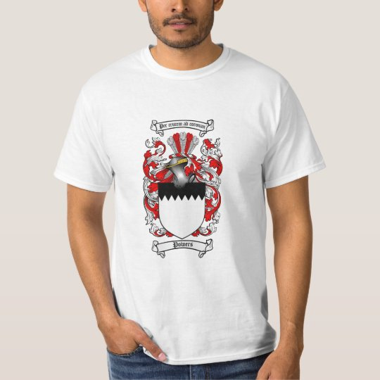 Powers Family Crest - Powers Coat of Arms T-Shirt