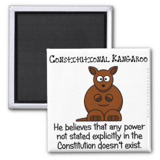 Powers not delegated by the Constitution 2 Inch Square Magnet