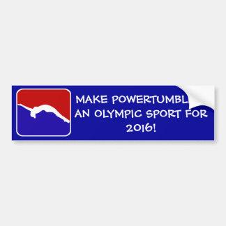 Powertumbling for 2016 gymnast bumper sticker