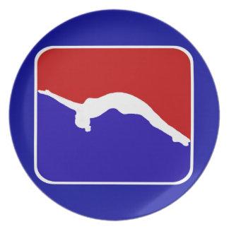 Powertumbling gymnast plate