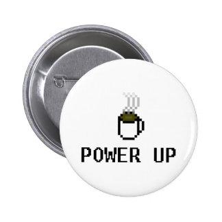 powerup pin redondo de 2 pulgadas