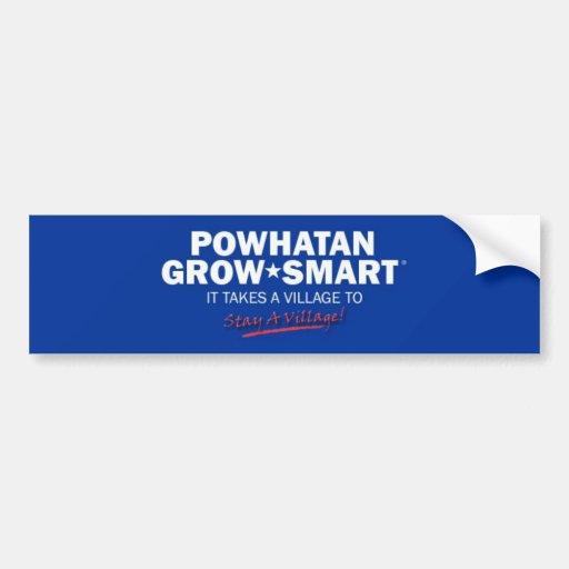 Powhatan crece elegante pegatina para auto