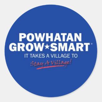 powhatan grow smart round sticker