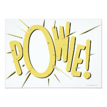 invitations, vintage, retro, powie, batman, bat man, 1966 batman, 60's batman, batman action callout, action words, fighting sound effect words, punching sounds, adam west, burt ward, batman tv show, batman cartoon graphics, super hero, classic tv show, Invitation with custom graphic design