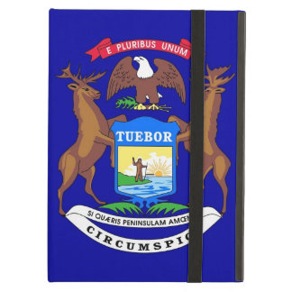 Powis Ipad Case with Michigan State Flag USA
