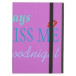 Powls icase Ipad 'Always Kiss me Goodnight' iPad Covers