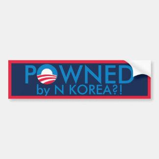 Powned by N Korea Car Bumper Sticker