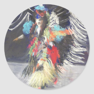 Powwow 2 classic round sticker