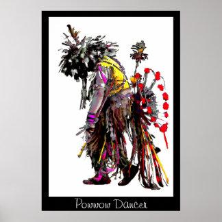 Powwow Dancer~poster Poster
