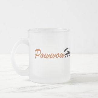Powwow Honey Frosted Glass Coffee Mug