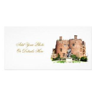 POWYS CASTLE WALES UK CUSTOMISED PHOTO CARD