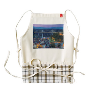 Poya and Zaehringen bridge, Fribourg, Switzerland Zazzle HEART Apron