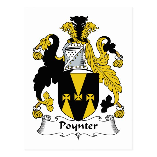 Poynter Family Crest Postcard