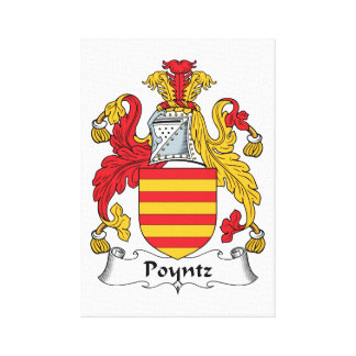 Poyntz Family Crest Gallery Wrapped Canvas