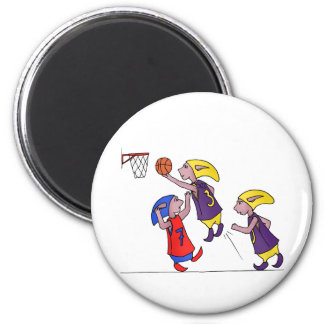 PoZ basketball players 2 Inch Round Magnet