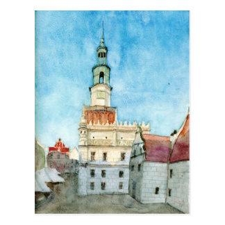 Poznan town-hall postcard