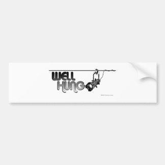 Pozo colgado (elipsoidal) pegatina de parachoque