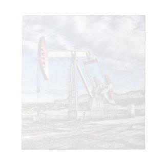 Pozo de petróleo bloc de papel