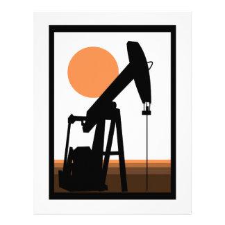 Pozo de petróleo membrete