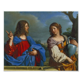 Pozo del EL del en de Samaritana del la de Jesús y Poster