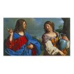 Pozo del EL del en de Samaritana del la de Jesús y Plantilla De Tarjeta Personal