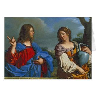 Pozo del EL del en de Samaritana del la de Jesús y Tarjeta De Felicitación