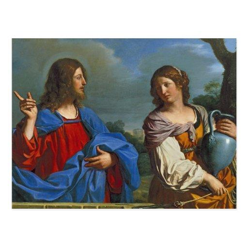 Pozo del EL del en de Samaritana del la de Jesús y Postal