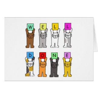 Pozo hecho, gatos del dibujo animado de la tarjeta de felicitación