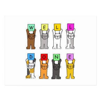 Pozo hecho, gatos del dibujo animado de la tarjetas postales