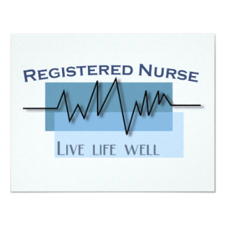 Pozo vivo de la vida de la enfermera registradoa invitación 10,8 x 13,9 cm