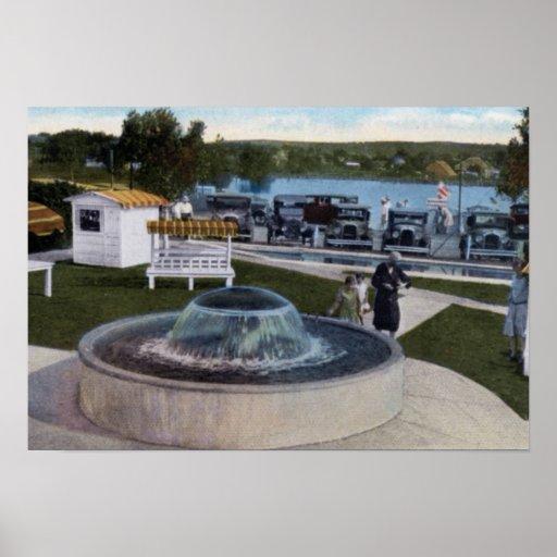 Pozo y lago del mineral de Oklahoma Belleview del  Póster