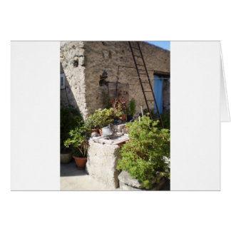 Pozo y plantas en Italia meridional Tarjeta De Felicitación