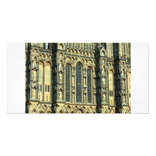 Pozos catedral, pozos, Somerset, Reino Unido Plantilla Para Tarjeta De Foto