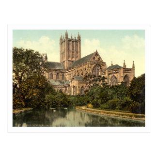 Pozos catedral, Somerset, Inglaterra Tarjetas Postales