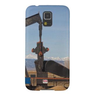 Pozos de petróleo de la montaña rocosa de Colorado Fundas Para Galaxy S5