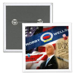 Pozos de Robby para el presidente 2016 Pin Cuadrada 5 Cm