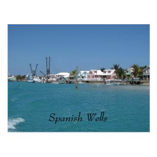 Pozos españoles Bahamas Tarjeta Postal