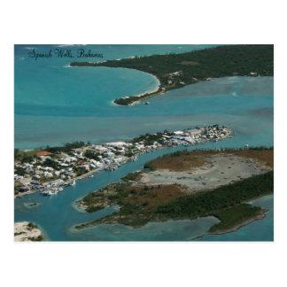 Pozos españoles, postal de Bahamas