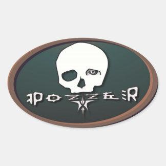 Pozzer Brown Oval Sticker