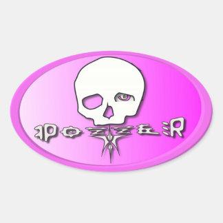 Pozzer Pink Oval Sticker