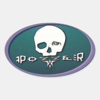 Pozzer Purple Oval Sticker