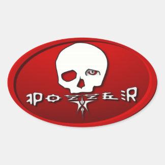 Pozzer Red Oval Sticker