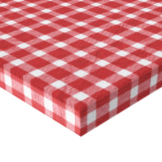 pp5 RED WHITE COUNTRY CHECKERED PATTERN SQUARES TE Canvas Print