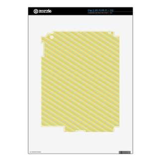 PP6 LIGHT PISTACHIO GREEN LITTLE YELLOW STRIPES PA DECALS FOR iPad 2