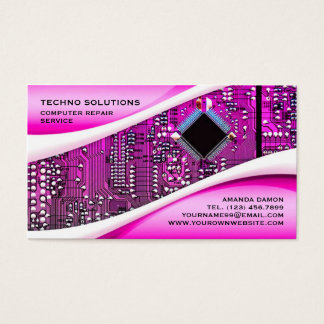 PP Computer Repair Business Card