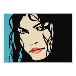PPA0156 BLACK HAIR BEAUTY SALON SPA FASHION STYLE CARD