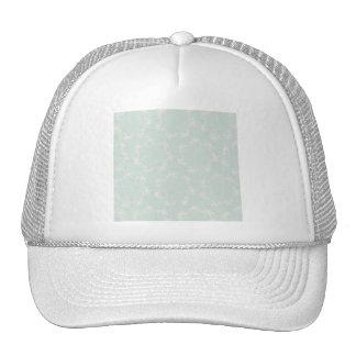 PPGP PASTEL PALE GREEN PINK SOFT MOM FLORAL FLOWER HAT