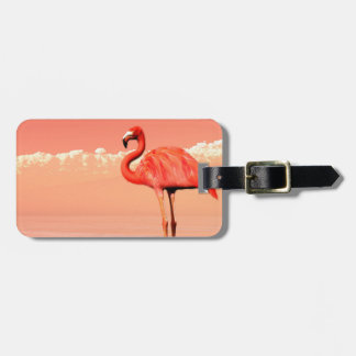 pPink flamingo in the water - 3D render Bag Tag